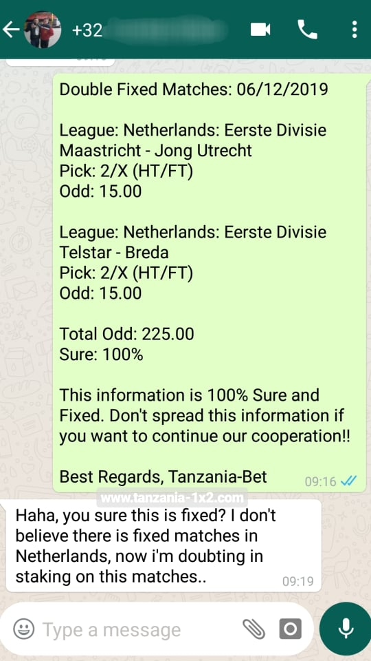 Accurate Fixed Bet Tip