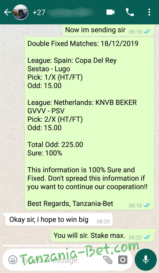 Soccer Fixed Tips Today
