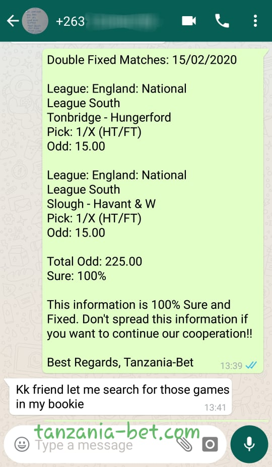 TANZANIA FOOTBALL FIXED MATCHES
