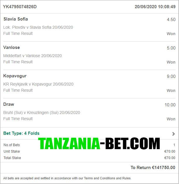 tanzanian soccer fixed odds