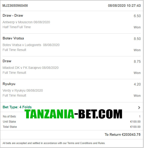 tanzania betting ffixed