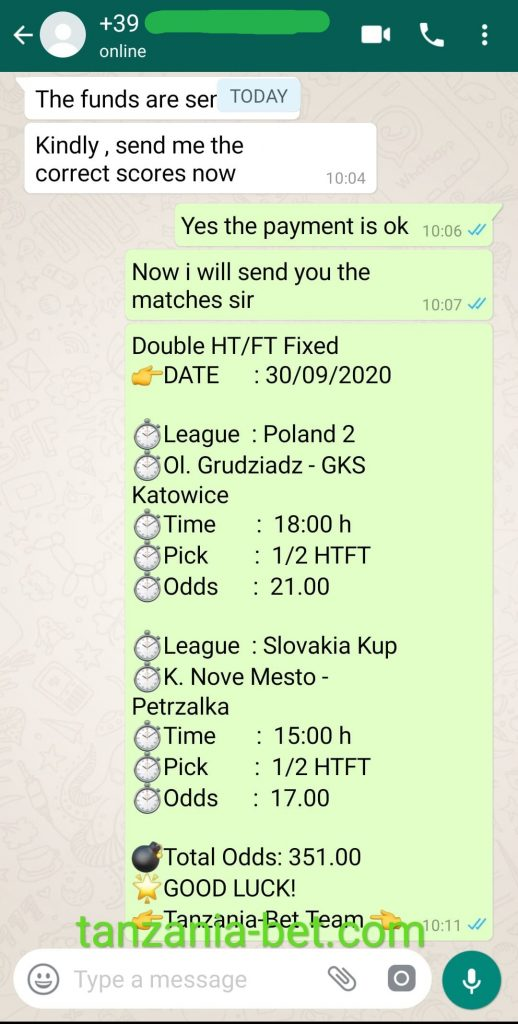 Expert Fixed Matches Odds