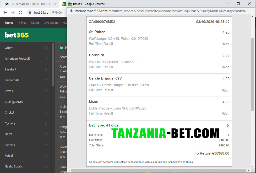 africa soccer fixed odds