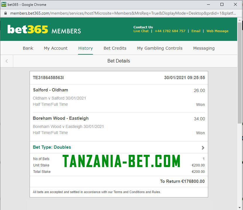 betting matches tanzania