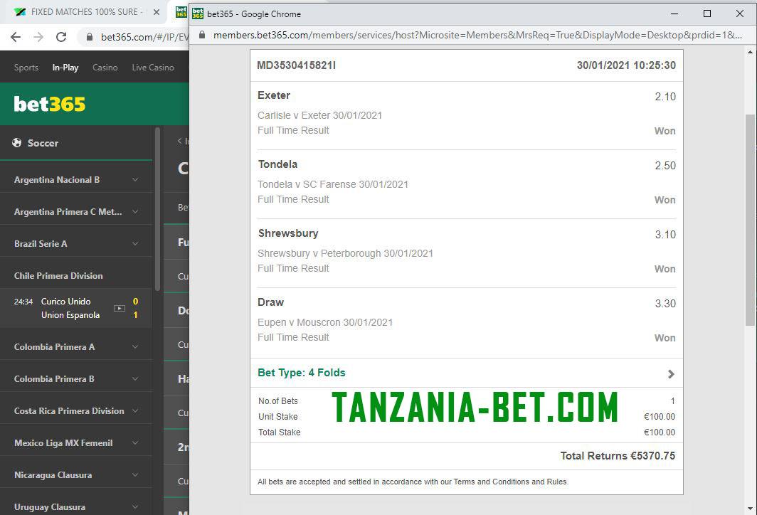 fixing matches tanzania