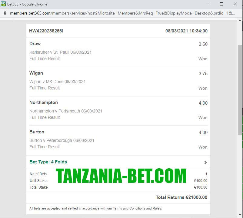 tanzania bet matches fixing