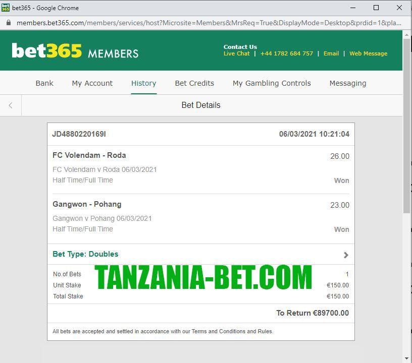 tanzania bet sure game